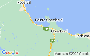 Map of Camping Chambord