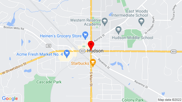 Google Map of Rt 91 and 303, Hudson, OH 44236