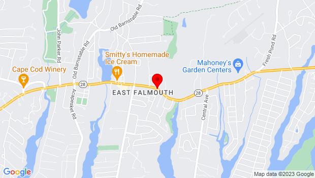 Google Map of Rt. 28, East Falmouth, MA