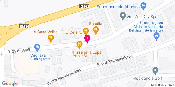 Google Map of Rua 25 de Abril, Nº11 A - Conceição 8800 Tavira