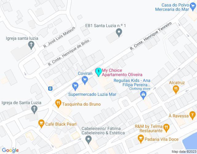 Google Map of Rua Comandante Henrique Tenreiro No 46 2º M  8800-546 Santa Luzia TVR