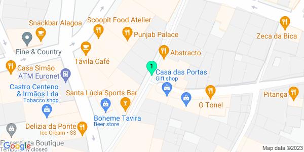 Google Map of Rua Dr. Antonio Cabreira n15 A 8800-344 Tavira