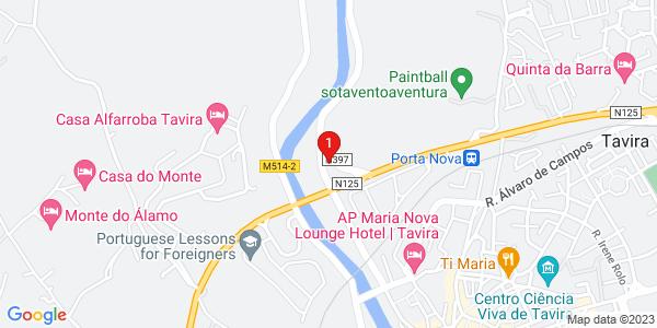 Google Map of Rua João Vaz Corte Real, nº 132 8800 - 351 Tavira