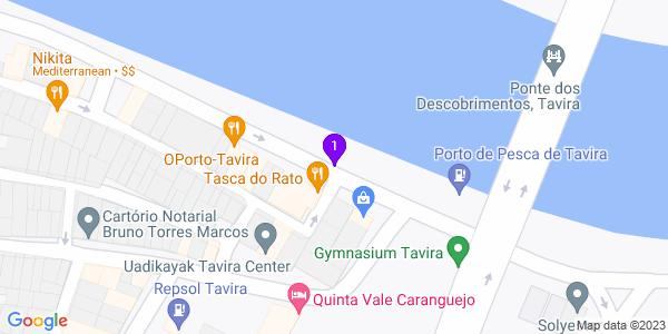 Google Map of Rua José Pires Padinha n 192 8800 - 354 Tavira