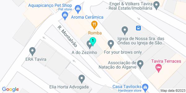 Google Map of Rua Montalvão 21, RC 8800-420 Tavira, Portugal