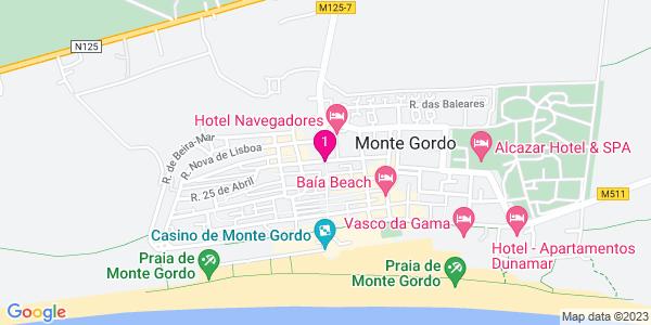 Google Map of Rua Pedro Álvares Cabral, Nº5 8900-465 Monte Gordo