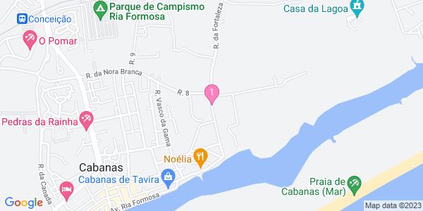 Google Map of Rua da Fortaleza, Edf. Cabanas Mar lj 5 8800-595 Tavira