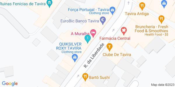 Google Map of Rua da Liberdade nº 26 8800-399 Tavira