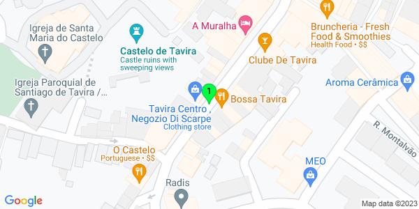 Google Map of Rua da Liberdade, Tavira