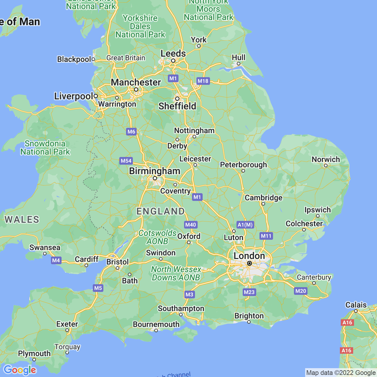 Rugby, England Map