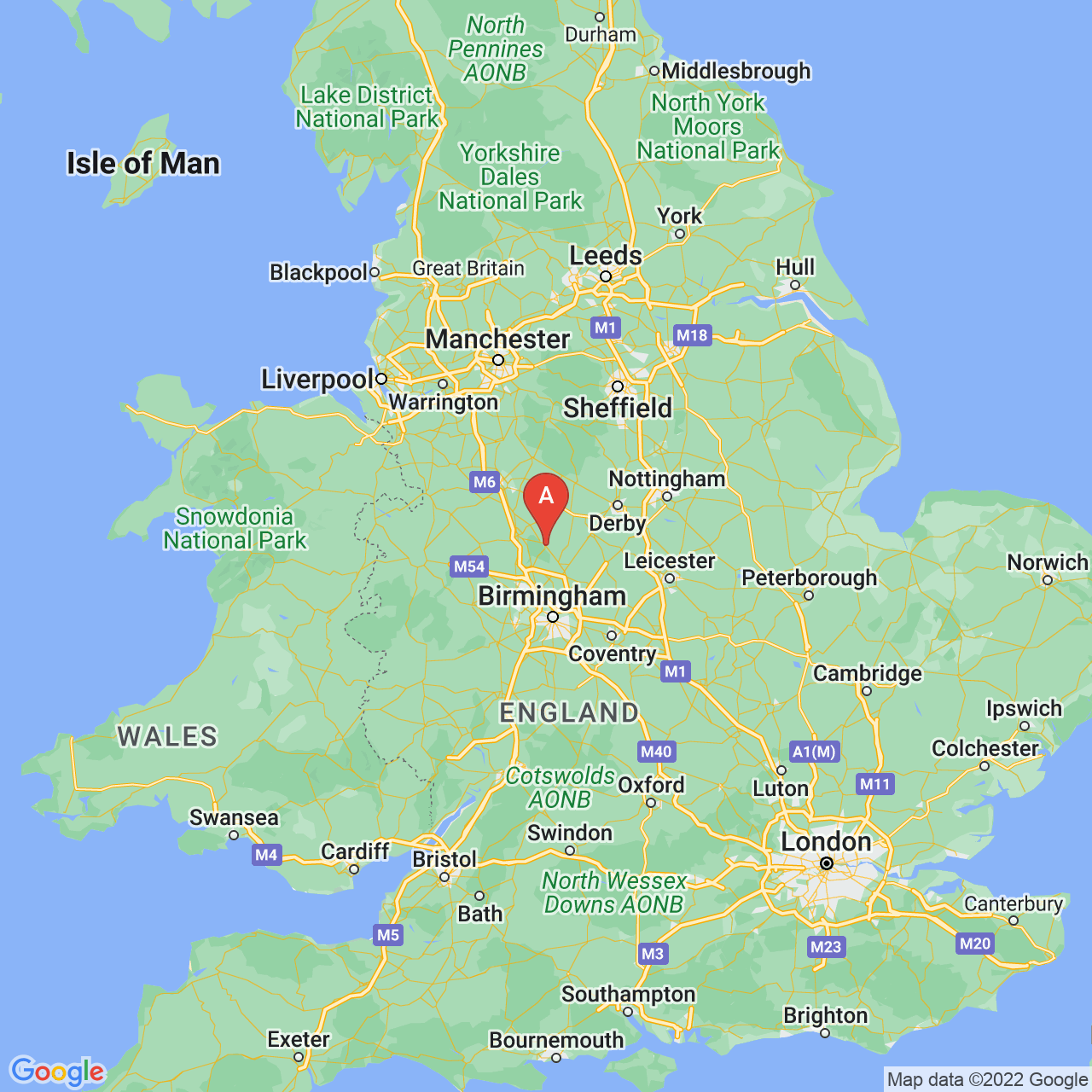 Rugeley, England Map