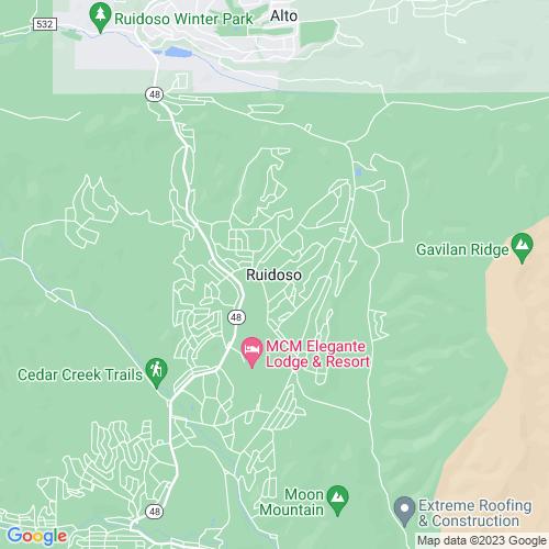 Map of Ruidoso, NM