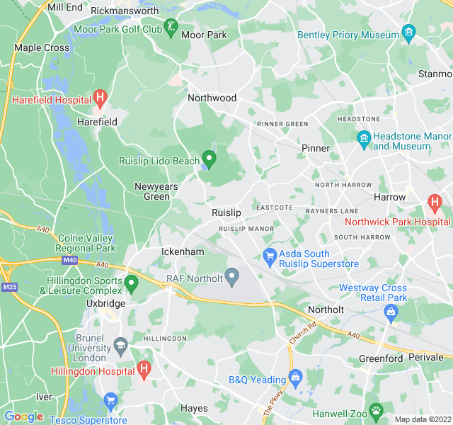 Website Designer Ruislip Google map of location