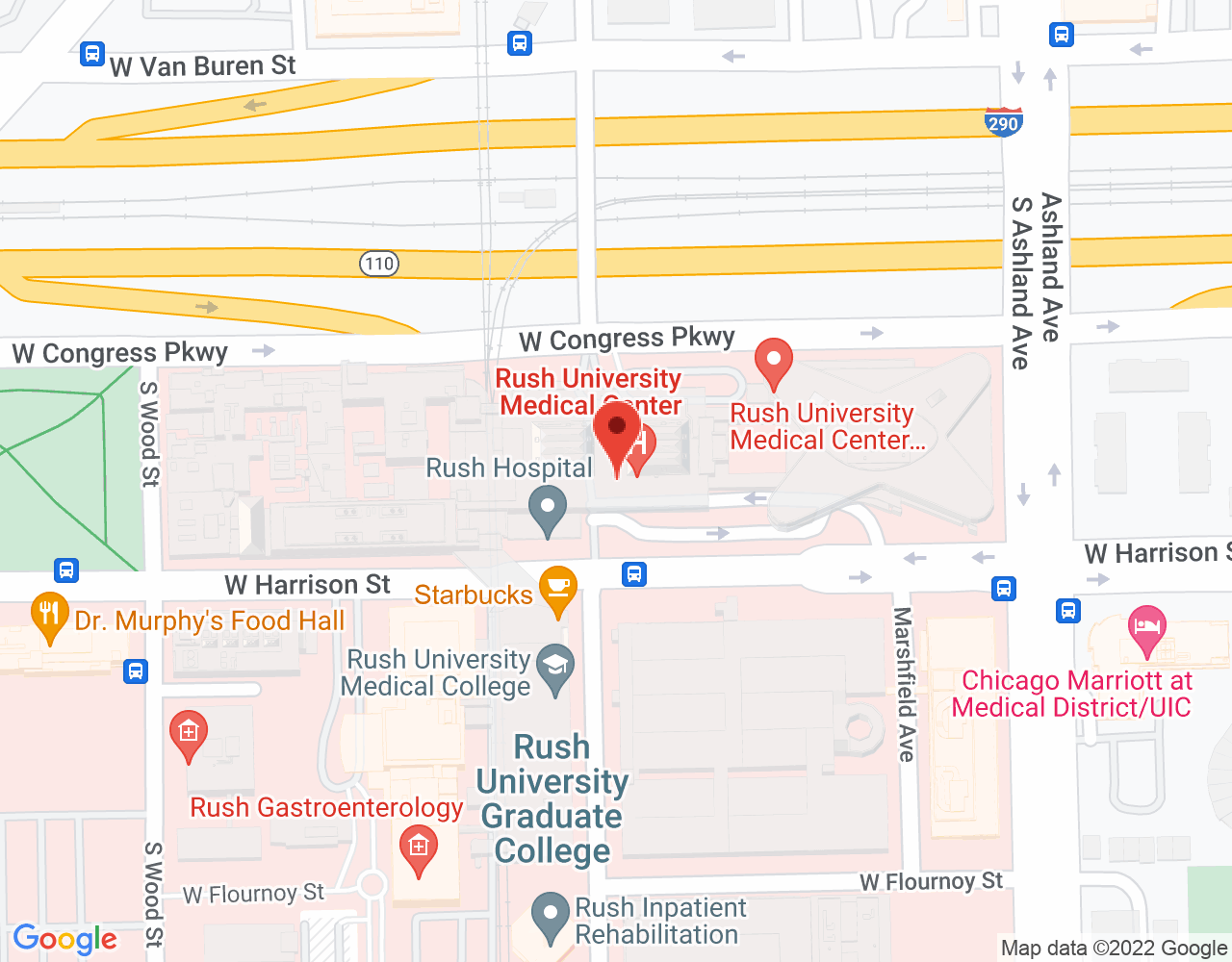 Google Map of Rush University