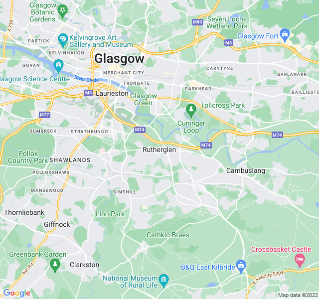 Website Designer Rutherglen Google map of location