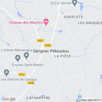 bed and breakfast Sérignac-Péboudou