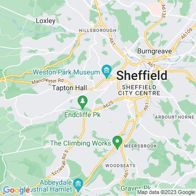 Sheffield Botanical Gardens Location