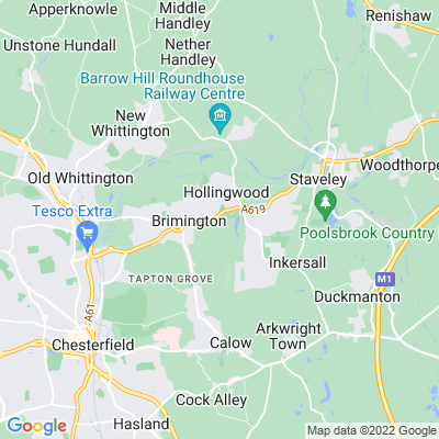 Ringwood Hall, Chesterfield Location