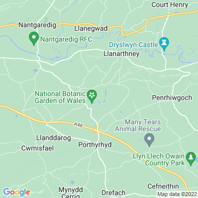 National Botanic Garden of Wales Location