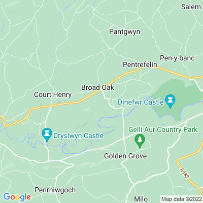 Aberglasney Location