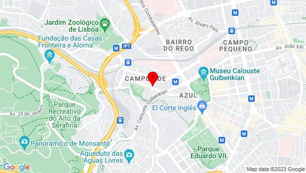 Google Map of SANA Malhoa Hotel I Av. José Malhoa, nº 8 I 1099-089 LISBOA