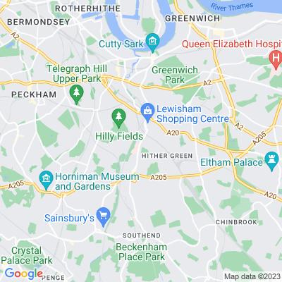St Mary's Churchyard, Lewisham Location