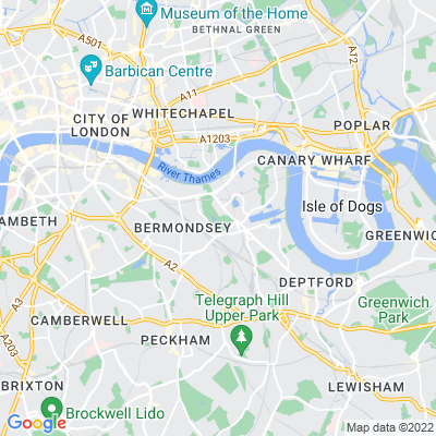 Southwark Park Location