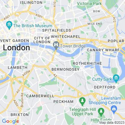 St James's Churchyard, Southwark Location