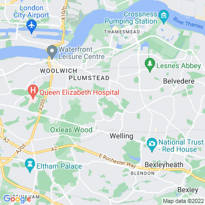 Woolwich Cemetery (Old and New) Location