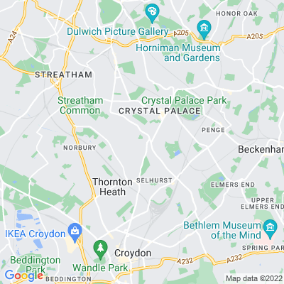 Lawns, The, Upper Norwood Location