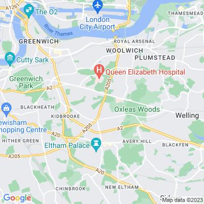 King George's Field, Greenwich Location
