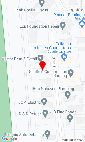 Google Map of SEI Equipment 3301 S 6th Street, Lincoln, NE, 68502