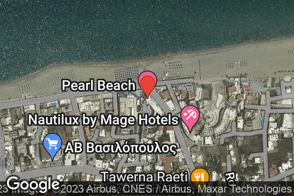 Google Map of SENTIDO PEARL BEACH, Αυστραλών Πολεμιστών 28, Ρέθυμνο