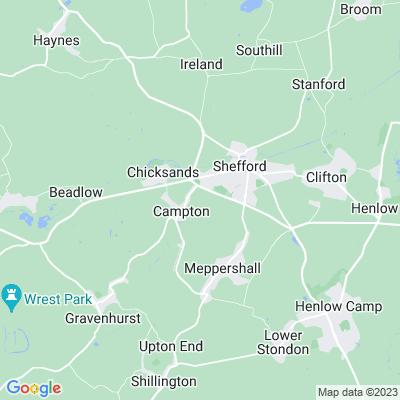 Chicksands Priory Location