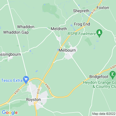 Melbourn Bury Location