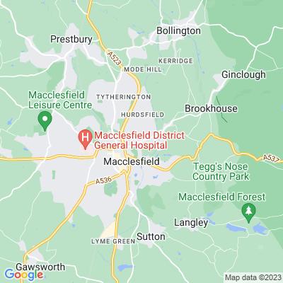 Victoria Park, Macclesfield Location