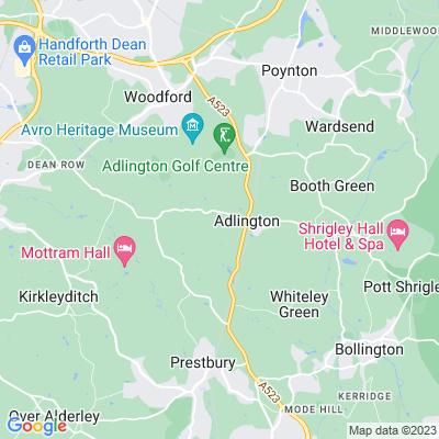 Adlington Hall Location