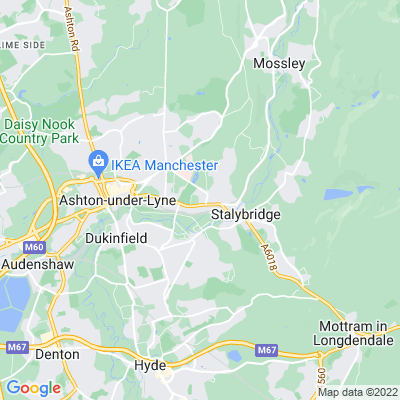 West Hill, Tameside Location