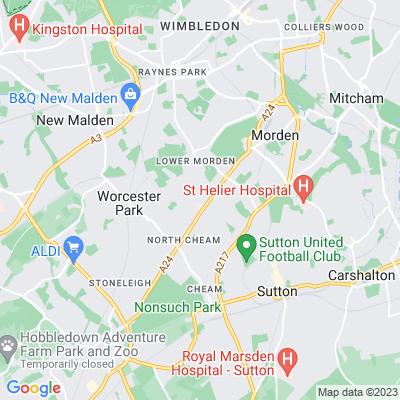 Merton and Sutton Cemetery Location