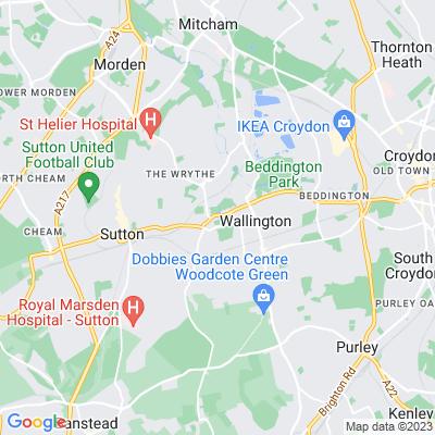 All Saints Churchyard, Carshalton Location