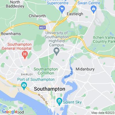 Southampton University Botanical Gardens Location