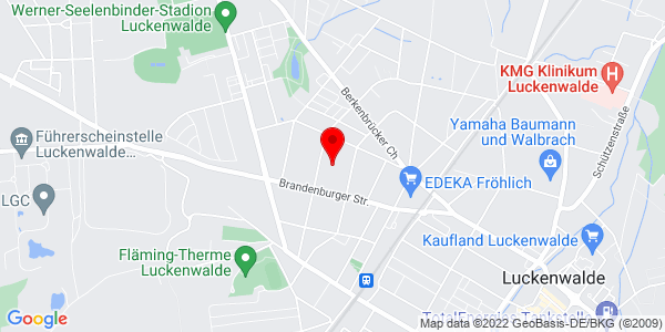 Google Map of SPORTPARK Luckenwalde GmbH,14943 Luckenwalde,Fontanestraße 15a