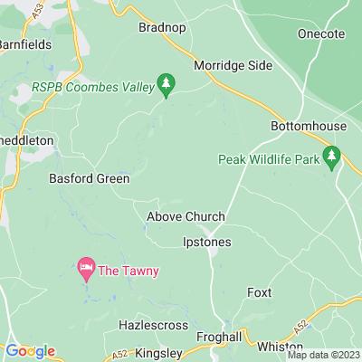 Whitehough, Ipstones Location