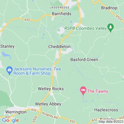 Ashcombe Park, Cheddleton Location