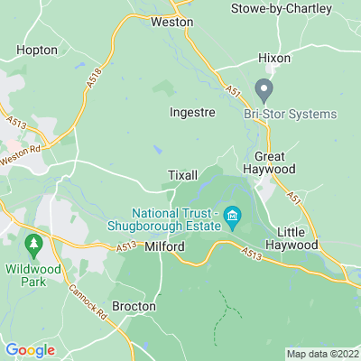 Tixall Park Location