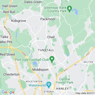 Victoria Park, Tunstall Location
