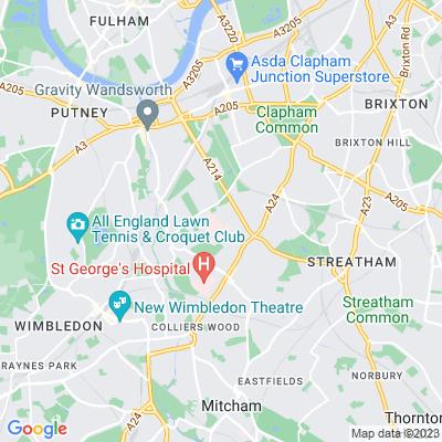 Springfield Hospital, Tooting Location
