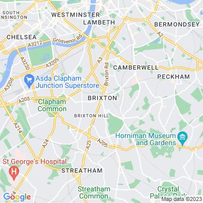 St Matthew's Gardens, Lambeth Location