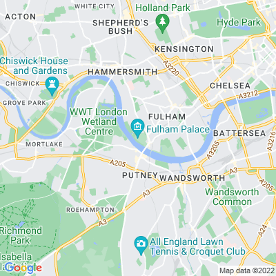 Fulham Palace and Bishop's Park Location