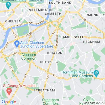 Trinity Gardens, Lambeth Location